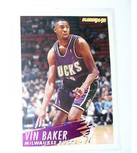 CARTE  NBA BASKET BALL 1995  PLAYER CARDS VIN BAKER (127)