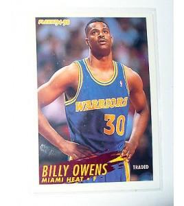 CARTE  NBA BASKET BALL 1995  PLAYER CARDS BILLY OWENS (122)
