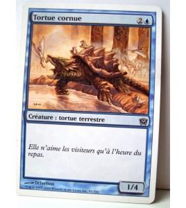 Carte magic the gathering mtg - tortue cornue - commune - magic 2010 - 55249