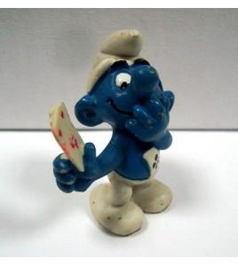 Schtroumpf smurf PUBLICITAIRE ASS TRICHANT AUX CARTES 20056 RARE portugal 80's p