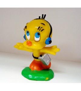 figurine titi & gros  minet avec walkman warner bros bully 1983