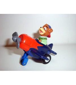 La Bande a Picsou - Figurines PVC - Flagada Jones en avion plane N°2 (6x7cm)